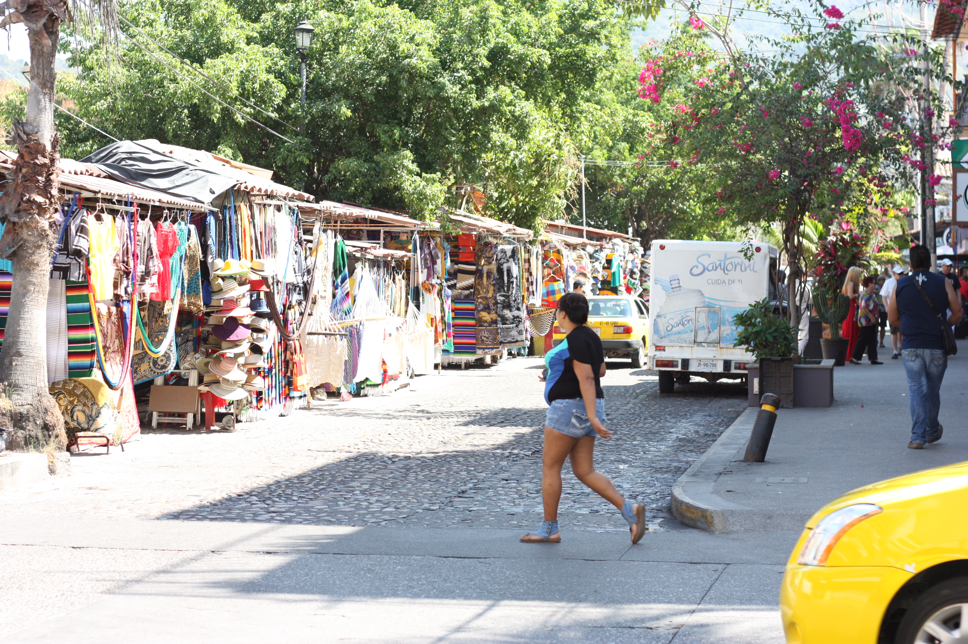 This side street is typical of the neighbourhood: vendors, restaurants, stores. Colourful. The spicy, aromatic smell of Mexican food, a blend of music and voices--a feast for the eyes, the ears and the nose for sure!